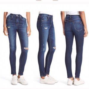 Rag & bone dive high rise skinny jeans 26